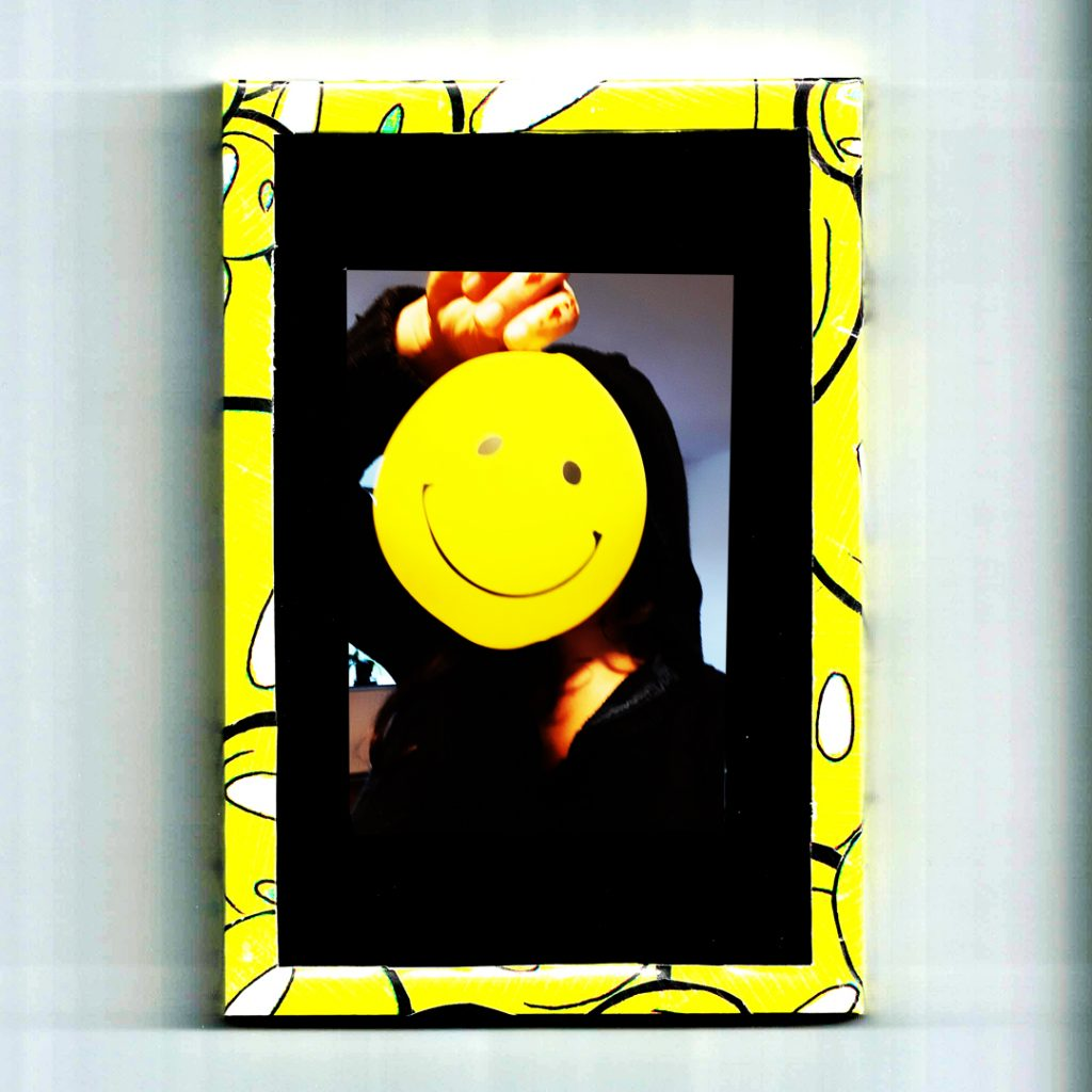 smiley, slimey, foto, selfie, zelfportet, ballon, fotolijst, diy