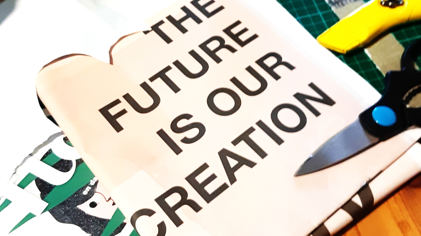 vision board, collage, goede voornemens, doelen, knutselen, knippen en plakken, de toekomst, creatief, craft, creatie
